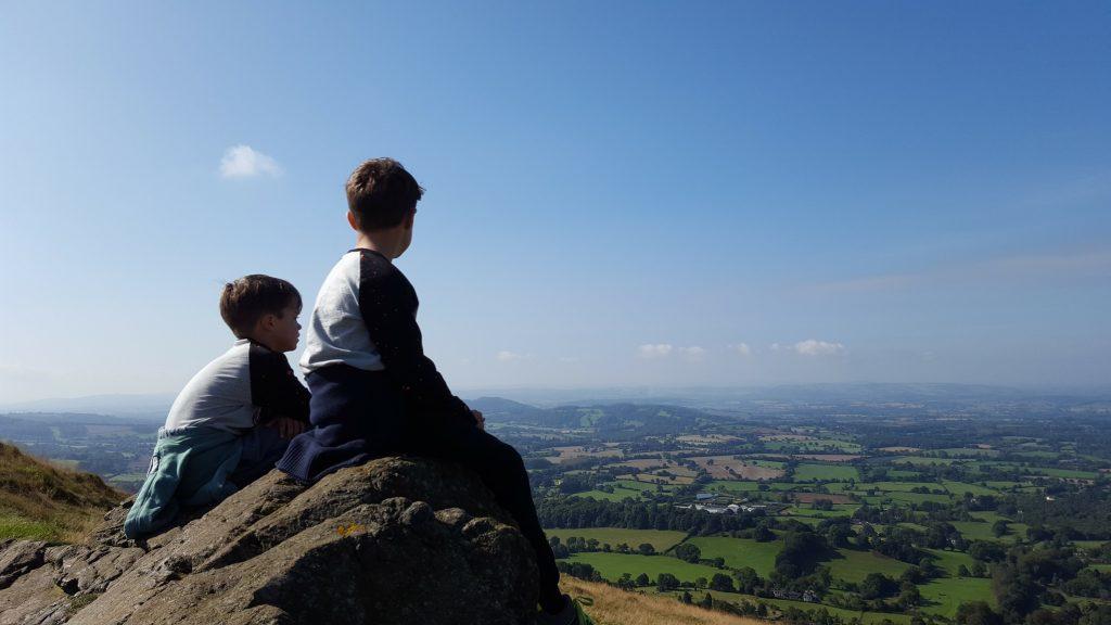 Walking in the Malvern Hills with Kids