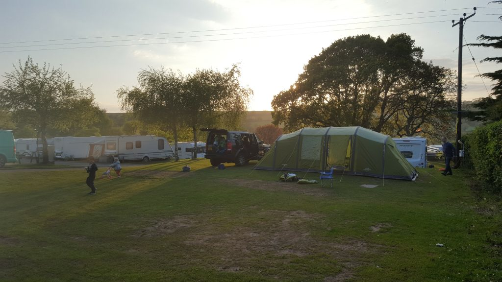 Camping at Andrewshayes Holiday Park