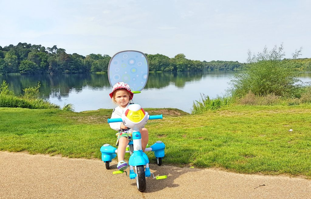 A Family Friendly Walk at Virginia Water to Review the VTech 5-in-1 Stroll & Grow Trike